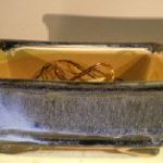 Marble Blue Ceramic Bonsai Pot – Rectangle Professional Series 8.25 x 6.25 x 4.0
