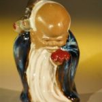 Ceramic Glazed Buddha Figurine God of Longevity