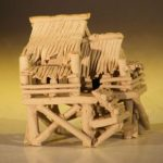 Water Pavillion Figurine Unglazed – Large 3.0 x 2.25 x 3.0 tall