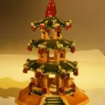 Glazed Ceramic Pagoda Figurine
