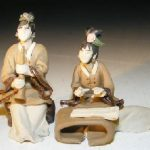 Ceramic Miniature Mud Figurine – Two Women Playing Instruments