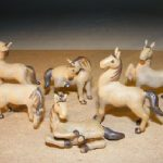 Miniature Six Piece Horse Figurine Set Extra Fine Detail