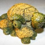 Miniature Turtle Figurine Three Turtles – Two Turtles Crawling Underneath
