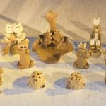 Whimsical Animal Mud Figurines 12 Piece Set