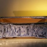 Marble Blue Ceramic Bonsai Pot – Rectangle 12.0 x 9.5 x 3.4