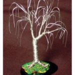 Wire Bonsai Mini Tree Sculpture 4x4x4