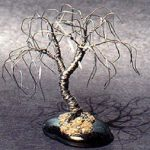 Wire Bonsai Tree Sculpture Willow Mini Tree – 4x4x4