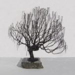Wire Bonsai Tree Sculpture – Weeping Willow Style